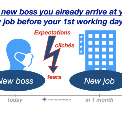 Why do you arrive at your new job before you arrive?